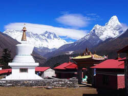 View From Tengboche Monastery
