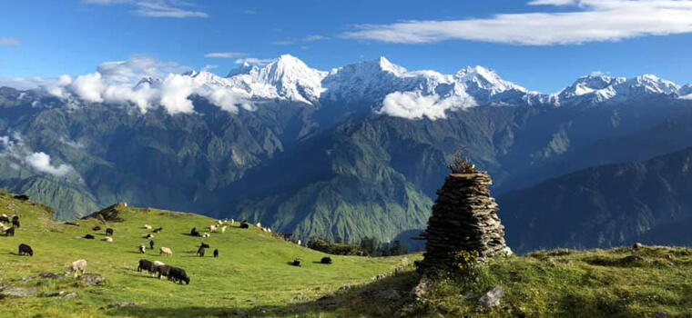 Mt Ganesh Himal View From Sing La Pass
