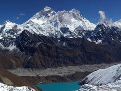 Everest and Gokyo Lake View From Gokyo Ri 5360m